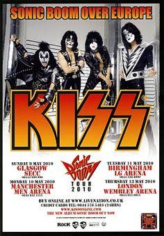 Kiss poster '90