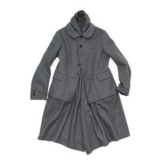 COMME des GARÇONS COMME des GARÇONS coat wool flannel top grey | PLAGUESEARCH