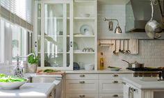 Sliding kitchen cupboard doors