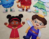 Daniel Tiger Neighborhood Wall Art Cut Outs for Birthday Party or Bedroom
