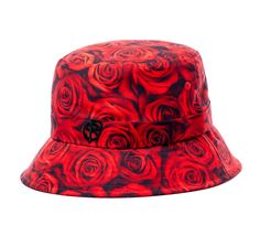 3d52015050bc3 Image of Red Roses Bucket Hat