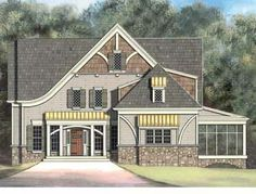A Compact Home Brimming with Amenities (HWBDO14010) | French Country House Plan from BuilderHousePlans.com