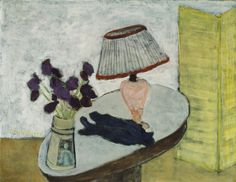 Milton Avery American, 1885-1965 Flowers and Lamp, 1942 Oil on canvas 71.1 x 91.4 cm (28 x 36 in.)