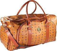 Mcm Designer mcm monogram weekender duffle bag black accessories