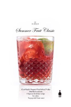 how to make SUMMER FRUIT CLASSIC by Bimber Distillery  London Distillery, Bimber Distillery