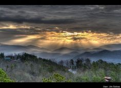 Smokey Mountain Morning  <3  I may hide away here when I get home.