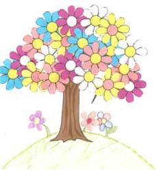 spring tree paper craft