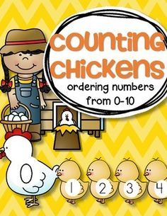 ***FREE***  This is a set of one mama hen and ten baby chicks for your early learning teaching projects. Order numbers from 0 to 10. Use for a center, small group teaching, bulletin board and wall décor. I have included 2 chicks with no numbers to use to create sets and for counting. Print several pages.
