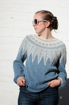 Ravelry: Ishav pattern by Maria Strikker Fair Isle Knitting, Hand Knitting, Icelandic Sweaters, Yarn Ball, How To Purl Knit, Sport Fashion, Pulls, Knitwear, Knitting Patterns