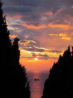 Sunset in Capoliveri, Elba Island, Tuscany, Italy (february)