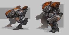 Mech Exploration by MuYoung Kim Spaceship Concept, Robot Concept Art, Concept Cars, Character Creation, Character Concept, Character Design, Sci Fi Armor, Science Fiction Art, Marketing Digital