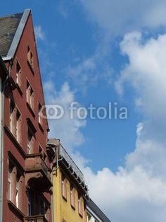Sanierte Altbaufassaden in der Braubachstraße in Frankfurt am Main in Hessen