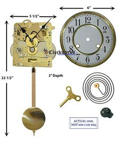 Mechanical Clock Kits - Build a Grandfather Clock with Ease : Clockworks Grandfather Clock Repair, The Tock, Mechanical Clock, Pendulum Clock, Drilling Holes, Mantle Clock, Back Plate, Woodworking, Clocks