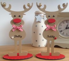 Personalised Reindeer - 18cm Freestanding