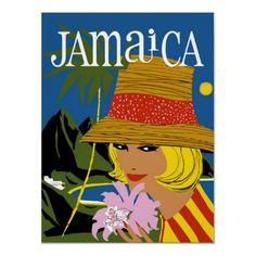 Poster de viagens do vintage, Jamaica por yesterdaysgirl