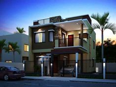 Beach house exterior design ideas modern house exterior wall painting home design ideas house design ideas home decor stores online 2 Storey House Design, Double Storey House, House Front Design, Modern House Colors, Interior House Colors, Modern House Design, Modern House Plans, Small House Plans, Modern Zen House