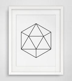 Geometric Poster, Poster Printable, Poster Prints, Digital Poster, Poster Geometric, Printable Poster, Women Gift, Geometric Hexagon, Gem #modernposter