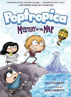 Poptropica #1: Mystery of the Map! Based on a concept by #WimpyKid author Jeff Kinney comes Poptropica, a brand-new #graphicnovel adventure series by Jack Chabert and Kory Merritt. In Mystery of the Map, Oliver, Mya, and Jorge take a ride in a hot-air balloon, only to crash-land on an unknown island filled with extinct animals and a horde of angry Vikings. Welcome to Poptropica, an uncharted group of islands whose existence is hidden from the rest of the world.