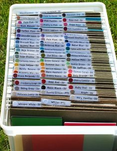Organized Cardstock by CreatingWithStamps - Cards and Paper Crafts at Splitcoaststampers