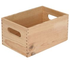 Caja de madera BASIC - Leroy Merlín Vinyl Storage, Crate Storage, Tool Storage, Storage Boxes, House Plants Decor, Plant Decor, Dovetail Box, Vegetable Packaging, Rice Box