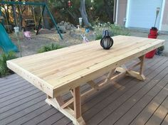 Diy Large Outdoor Dining Table Seats 10 12 Patio Furniture