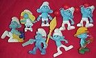 Lot of 8 Smurf Figurines 7 different including Smurfette 2011ed McDonalds Toys - 2011ed, DIFFERENT, Figurines, Including, McDonald's, Smurf, Smurfette, Toys