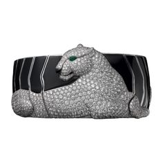 Panthère de Cartier High Jewelry bracelet Platinum, onyx, emerald eye, brilliants.