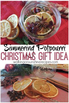 Your friends and family will love this gift idea of simmering potpourri for Christmas this year from Walking on Sunshine.