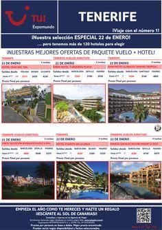 ¡Vuelo + hotel en TENERIFE salida 22 de Enero! Precio final desde 331€ ultimo minuto - http://zocotours.com/vuelo-hotel-en-tenerife-salida-22-de-enero-precio-final-desde-331e-ultimo-minuto/