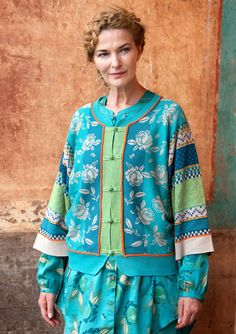 """Meiling"" cardigan in eco-cotton – Great Wall of China – GUDRUN SJÖDÉN – Webshop, mail order and boutiques 