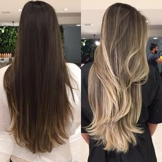 Excellent Pictures Ombre Hair loiro Popular Head of hair coloration styles come and go, but we'd put cash the point that ombré is here now f Blond Ombre, Brown Ombre Hair, Ombre Hair Color, Hair Color Balayage, Blonde Balayage, Hair Highlights, Bayalage, Cabelo Ombre Hair, Hair Looks