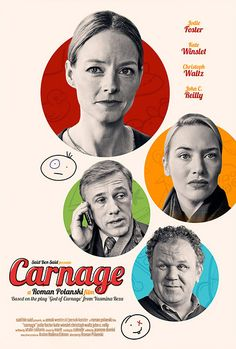2011 Roman Polanski Film starring Jodie Foster, Kate Winslet, Christoph Waltz, and John C. Reilly