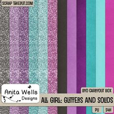 All Girl Solid and Glitter Papers