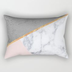 Marble Blush Gold gray Geometric Rectangular Pillow @society6. blush, marble, gold, brass, abstract, concrete, pink, rose, gray, geometry, geometric, Scandinavian, minimal, mid century , design, trend, white, fresh, modern, society6, print, tapestry, window curtains, home decor, interior design