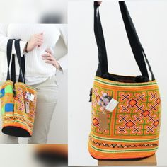 Unique Vintage fabric Hill tribe shoulder bag  . Learn more about it at www.etsy.com/shop/bubishanti