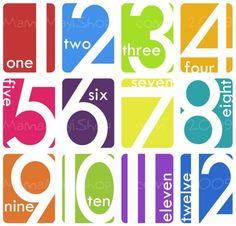 The Number Dozen  Counting Tool and Art Cards by MamaMayI on Etsy