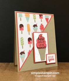 Simple Stampin - Page 13 of 446 - With Susan Itell Kids Birthday Cards, Crafts For Boys, Card Sketches, Kids Cards, Greeting Cards Handmade, Card Templates, Homemade Cards, Stampin Up Cards, Paper Crafts