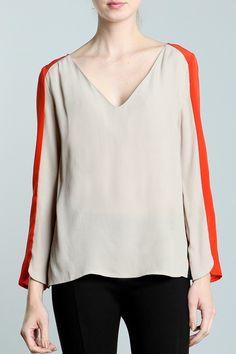 love that orange stripe. wish the sleeves were longer.