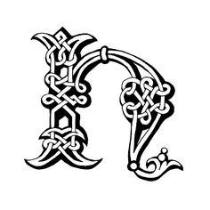hand drawn celtic alphabet letter b royalty free stock