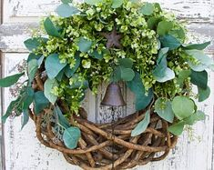 High Quality Elegant Door Wreaths and Home by SouthernCottageDecor Greenery Wreath, Grapevine Wreath, Nautical Wreath, Door Wreaths, Grape Vines, Etsy Seller, Doors, Elegant, Creative