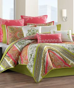 Another great find on #zulily! Pink Paisley Comforter Set #zulilyfinds