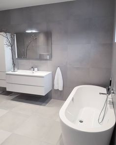 Home Design Ideas: Home Decorating Ideas Bathroom Home Decorating Ideas Bathroom Ensuite Bathrooms, Bathroom Toilets, Grey Bathrooms, Bathroom Renovations, Small Bathroom, Bathroom Ideas, Bad Inspiration, Bathroom Inspiration, Interior Inspiration