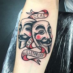 V For Vendetta Mask Tattoo V for Vendetta,...