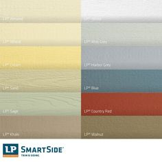 Lp Smartside Prefinished Color Options Lps Colors And Ideas On Pinterest