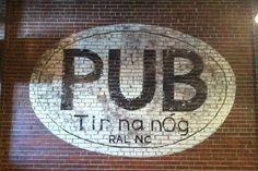 Tir na nOg Irish Pub- great irish music, open mic, food and trivia nights. Raleigh Restaurants, Local Pubs, Delicious Restaurant, Bars For Home, My Favorite Food, Irish, Lettering, Storyboard, North Carolina