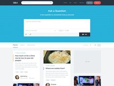 Questions & Answers Landing Page - Grid / List View by Asif Aleem for Wepoke
