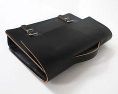 Handmade 14 Leather Messenger Bag Thick Veg-Tan by BasAder