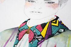 i14, izziyana suhaimi, embroidery