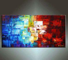 Abstract Painting HUGE Original DEEP Artist Canvas von art53