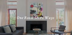 One Room Seven Ways: See Just How Much Wow One Artwork Can Add – Canvas: a blog by Saatchi Art